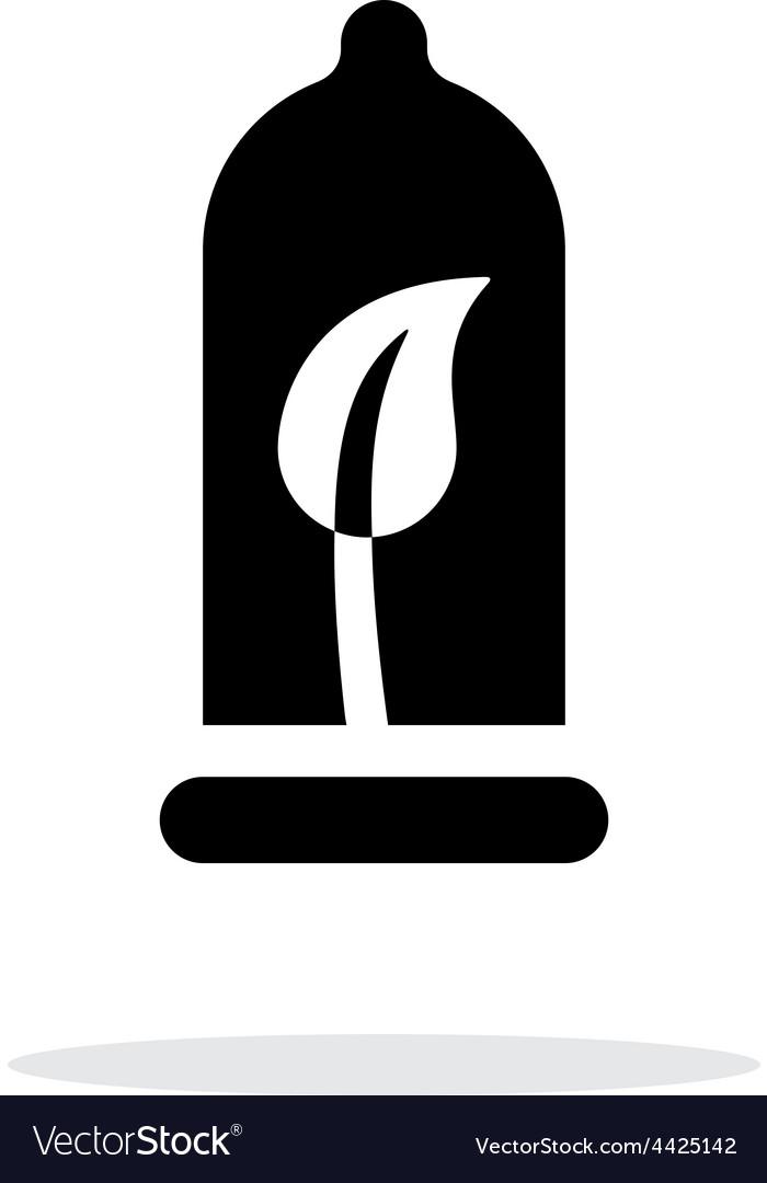 Eco material contraception icon on white vector | Price: 1 Credit (USD $1)