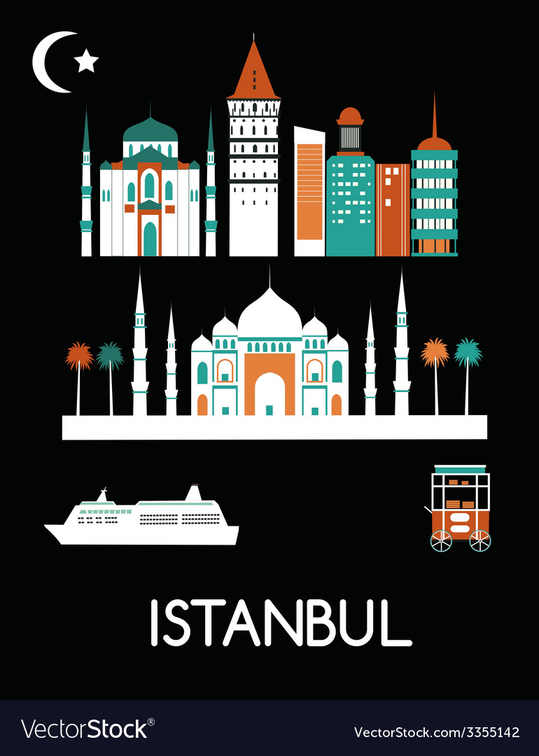 Istanbul city vector | Price: 1 Credit (USD $1)
