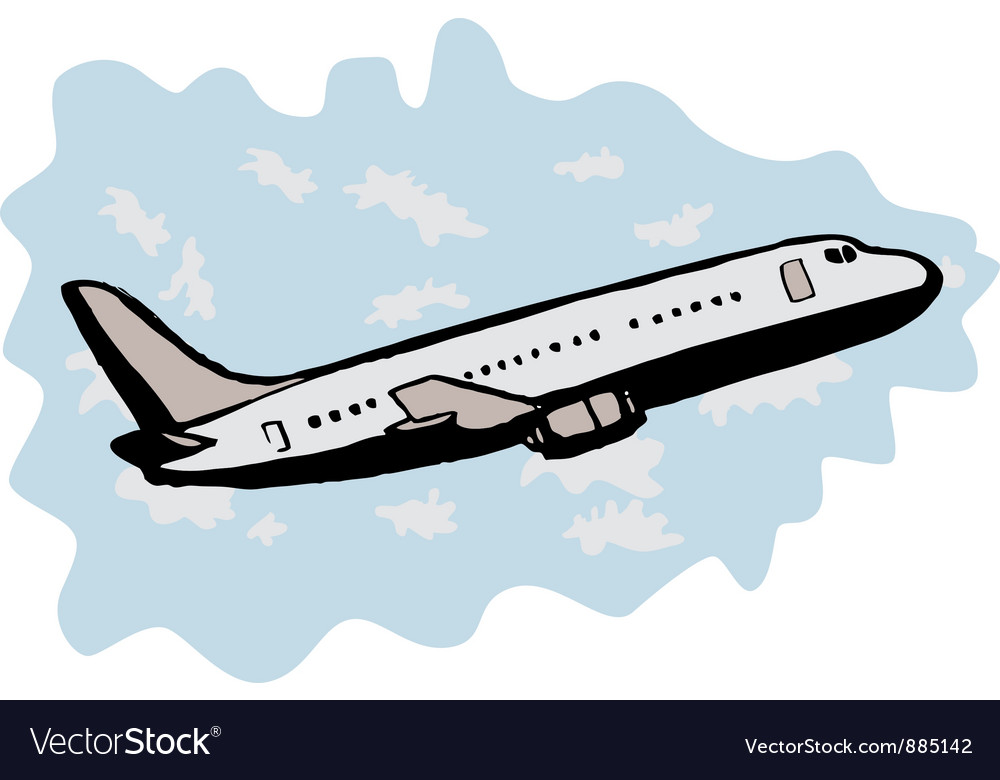 Jumbo jet airplane taking off vector | Price: 1 Credit (USD $1)