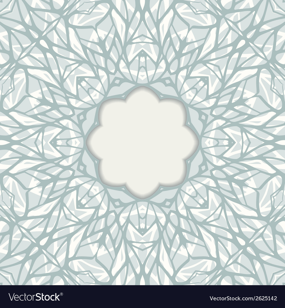 Mosaic ornamental frame abstract background vector | Price: 1 Credit (USD $1)