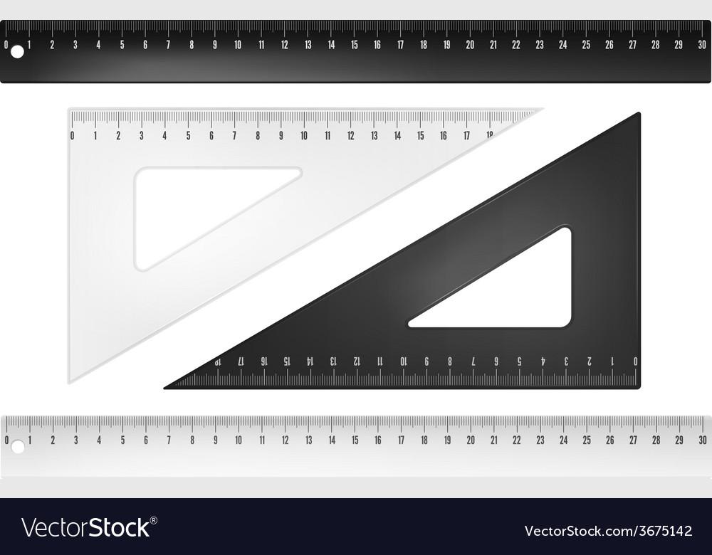 Plastic rulers vector | Price: 1 Credit (USD $1)