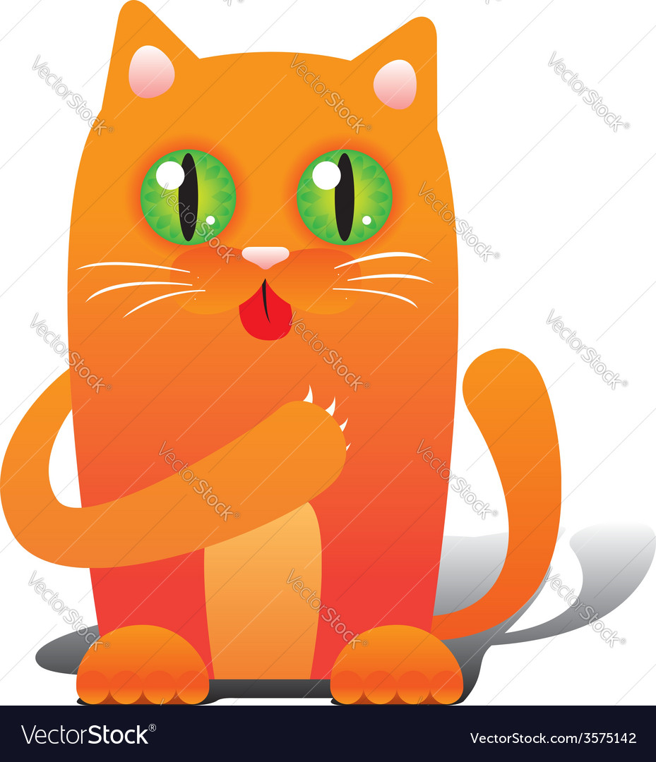 Red cat vector | Price: 1 Credit (USD $1)