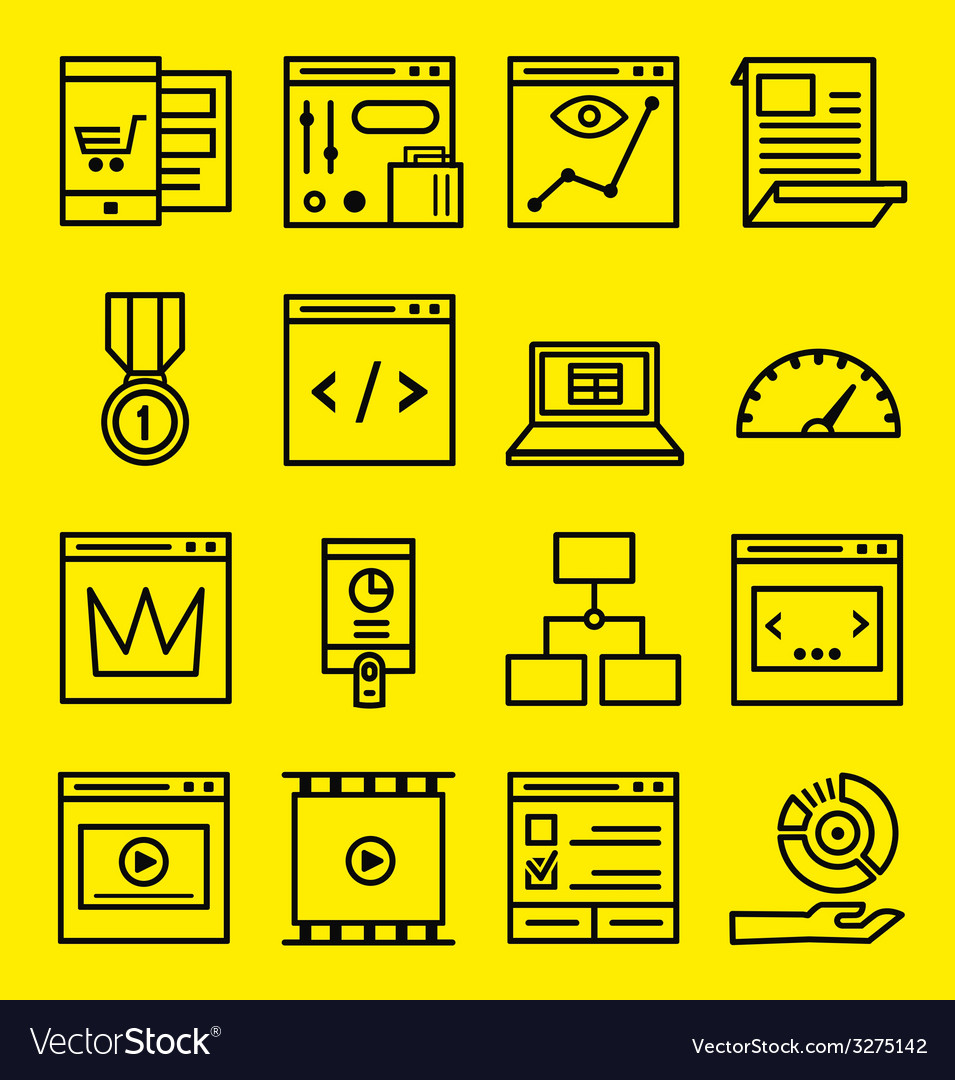 Seo and internet service icons vector | Price: 1 Credit (USD $1)