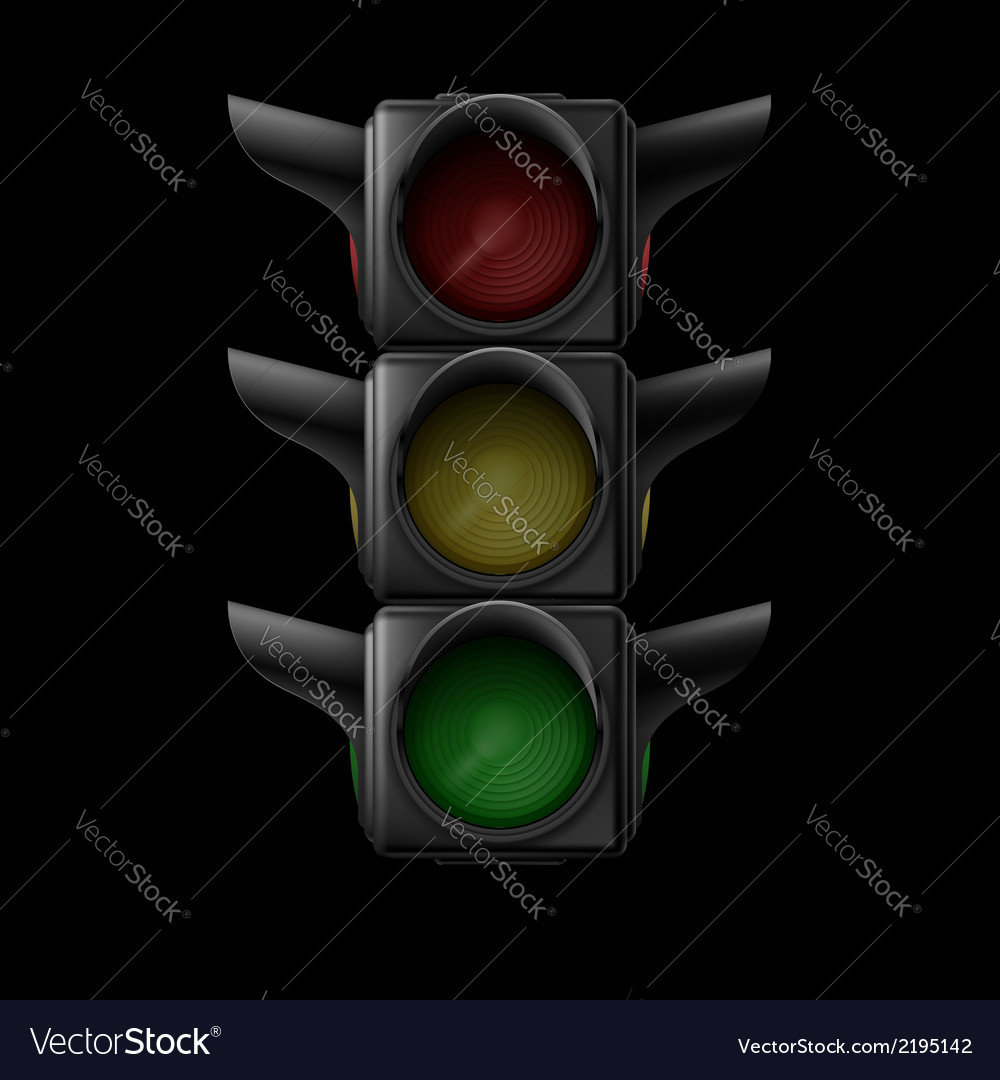 Traffic light vector | Price: 1 Credit (USD $1)