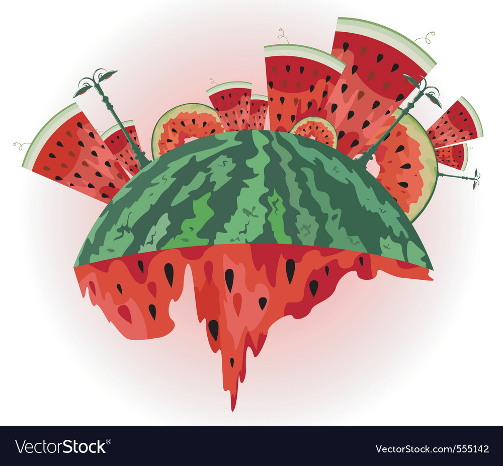 Watermelon city vector | Price: 1 Credit (USD $1)