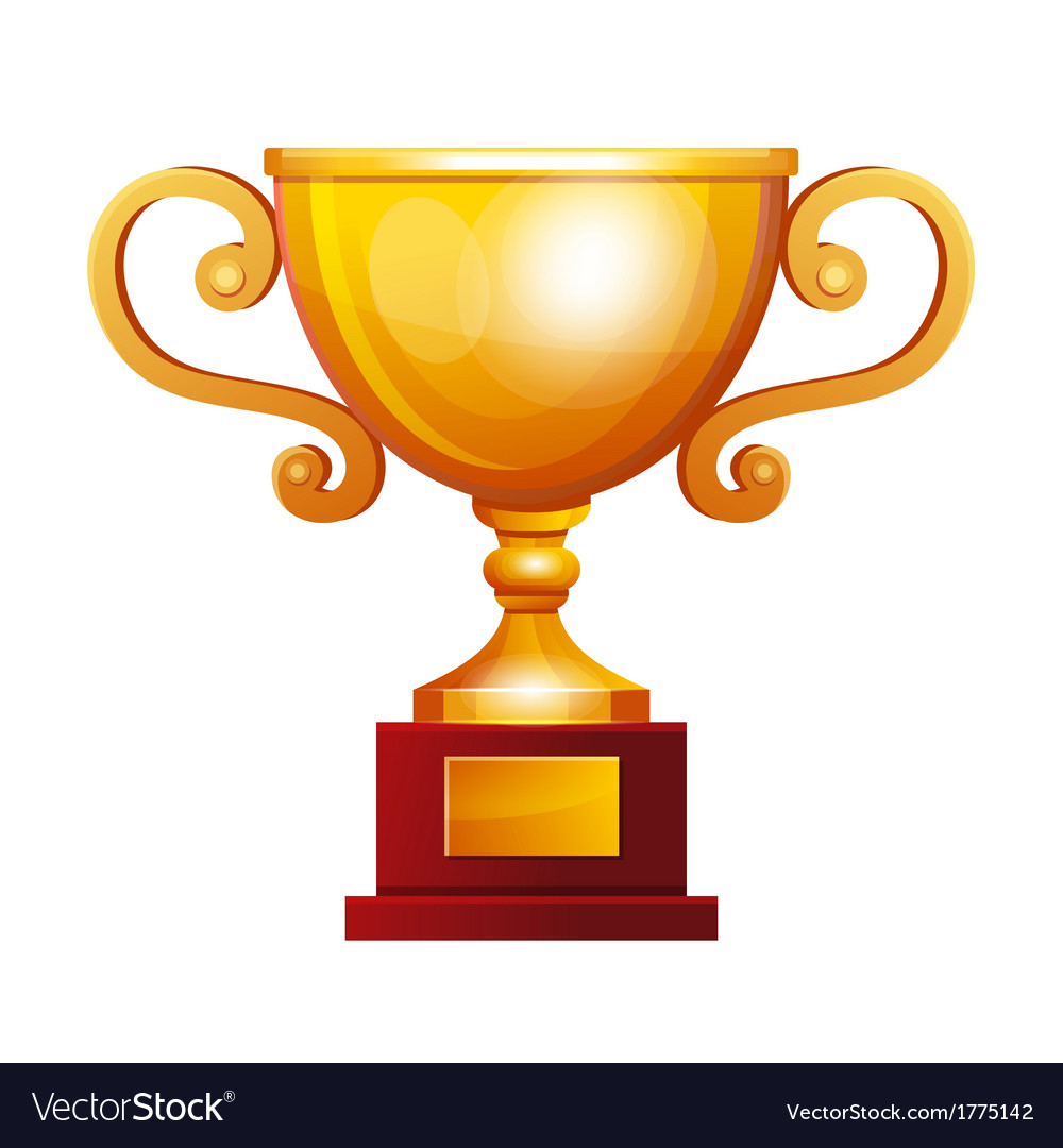 Winner golden cup vector | Price: 1 Credit (USD $1)