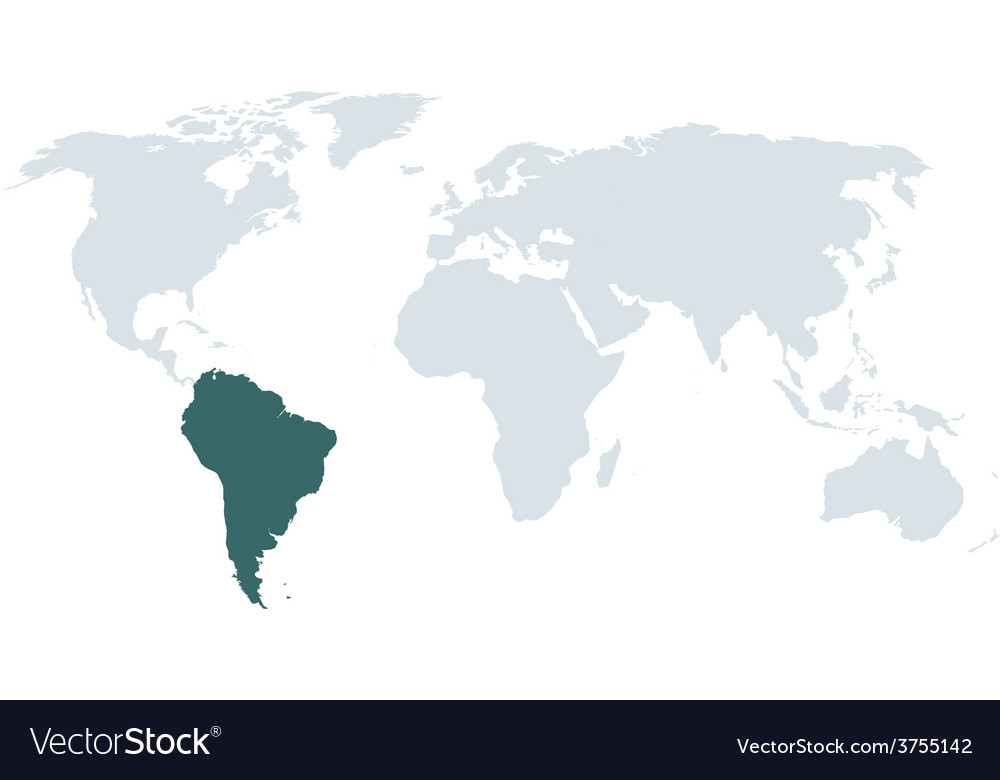 World map south america vector | Price: 1 Credit (USD $1)