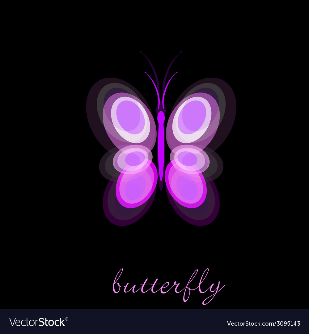 Butterfly on black background vector | Price: 1 Credit (USD $1)