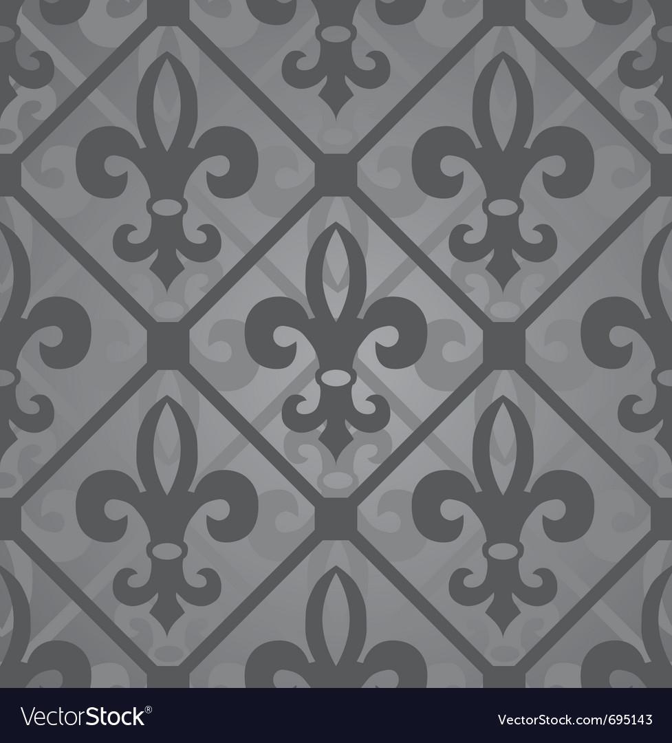 Fleur-de-lis seamless vector | Price: 1 Credit (USD $1)