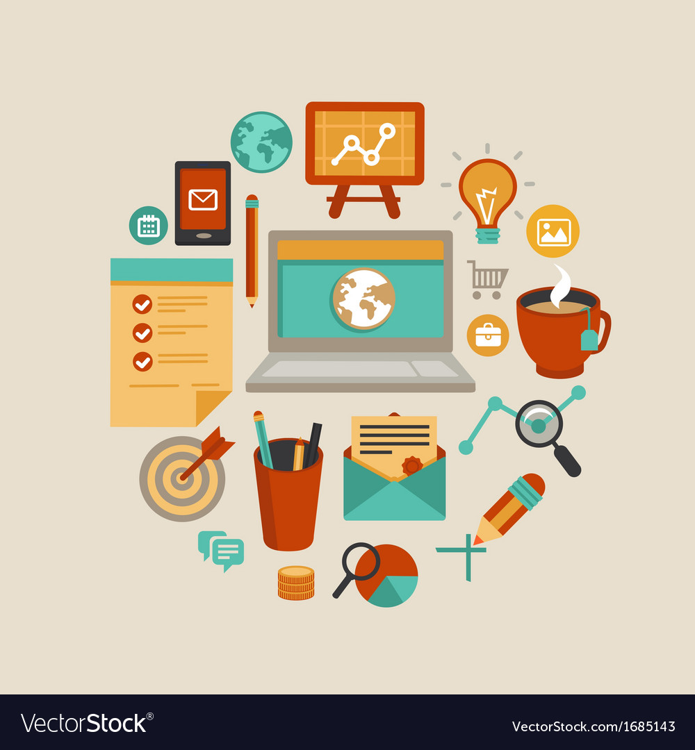 Freelance work concept vector | Price: 1 Credit (USD $1)