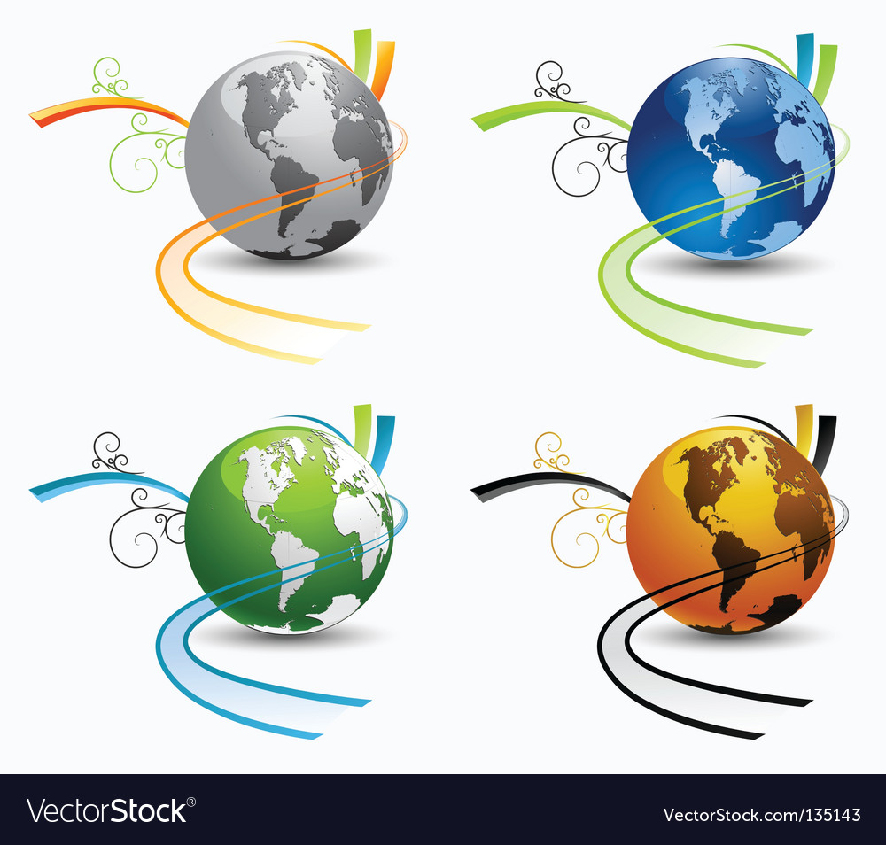 Globe environmental icons vector | Price: 1 Credit (USD $1)