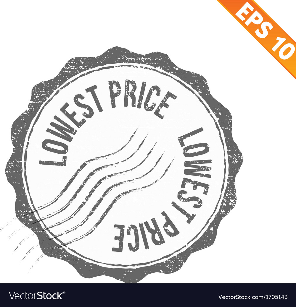 Grunge lowest price guarantee rubber stamp - vector | Price: 1 Credit (USD $1)