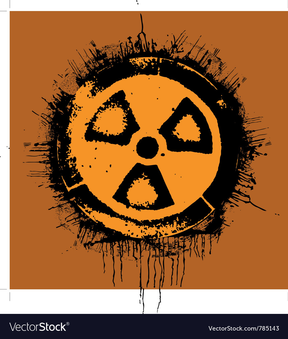 Grunge radioactivity warning sign vector | Price: 1 Credit (USD $1)