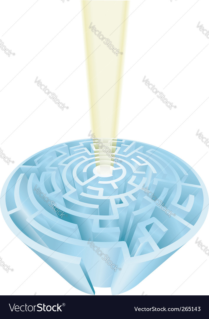 Maze challenge vector | Price: 3 Credit (USD $3)