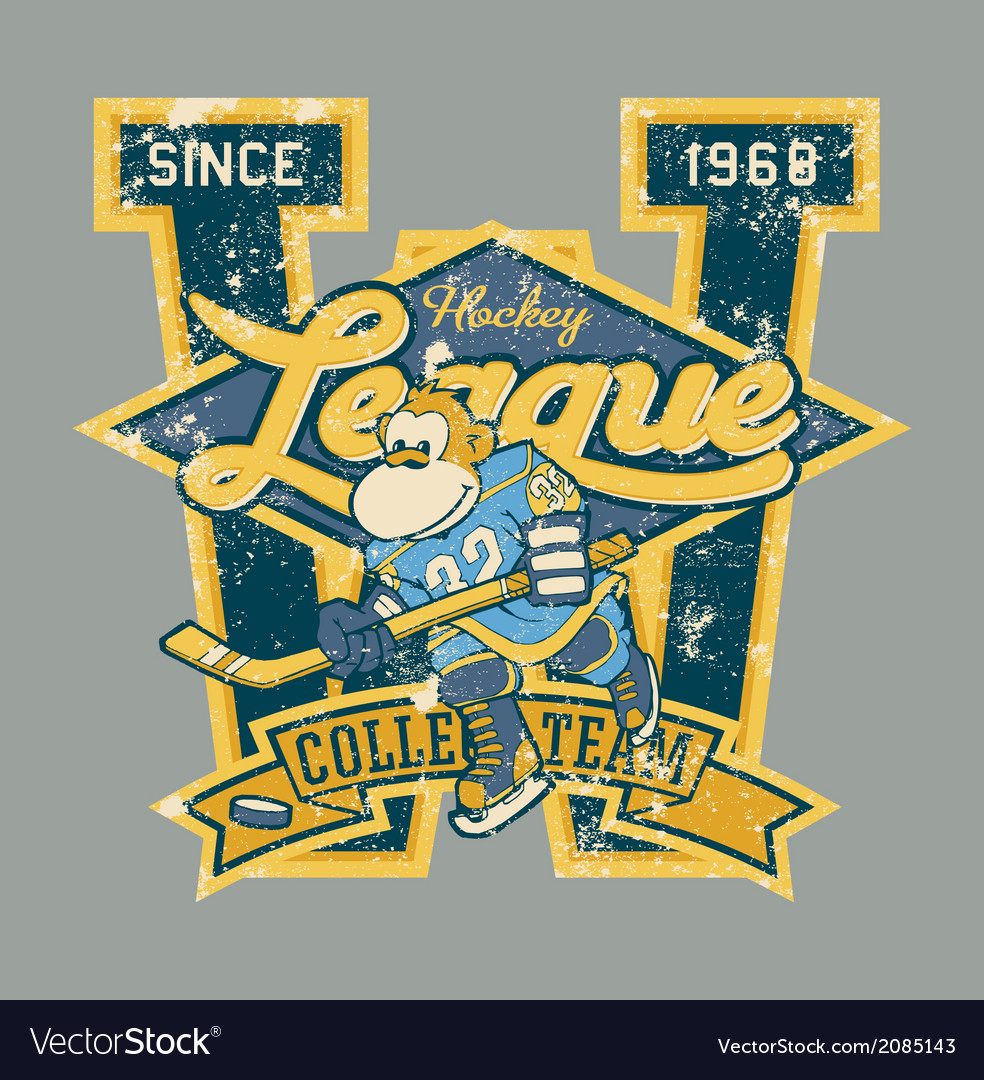Monkey players hockey team vector | Price: 1 Credit (USD $1)