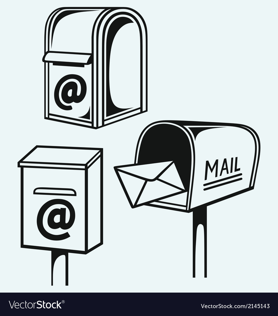 Open mailbox with letters vector | Price: 1 Credit (USD $1)