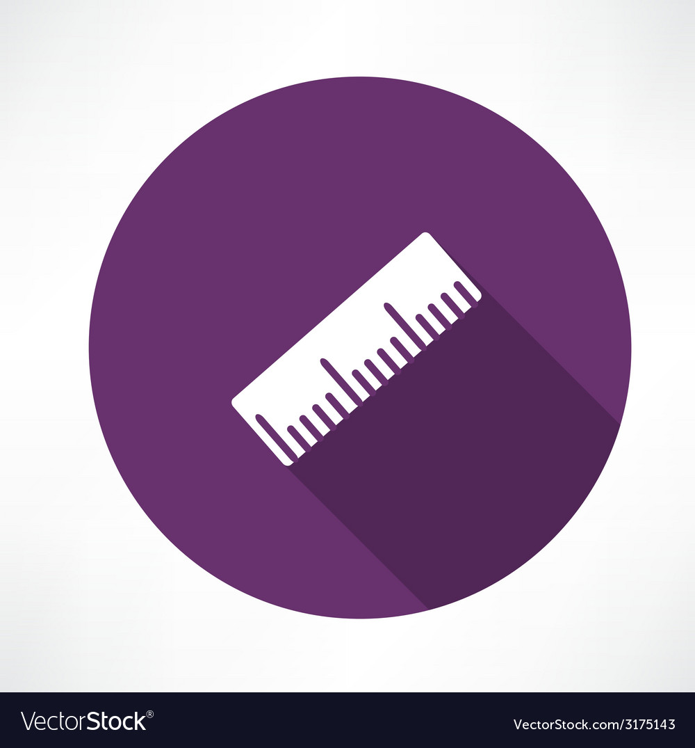 Ruler icon vector