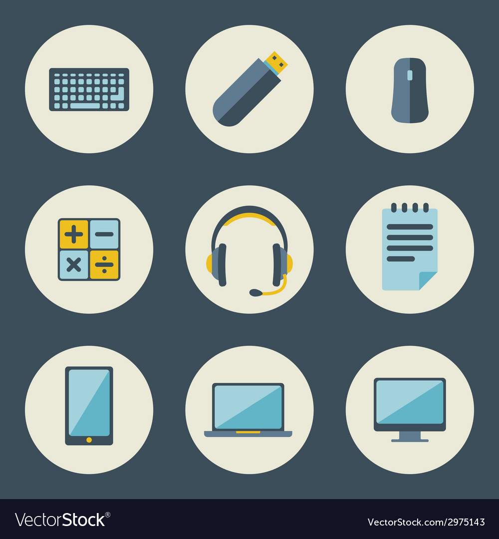 School and education icons flat design set vector | Price: 1 Credit (USD $1)
