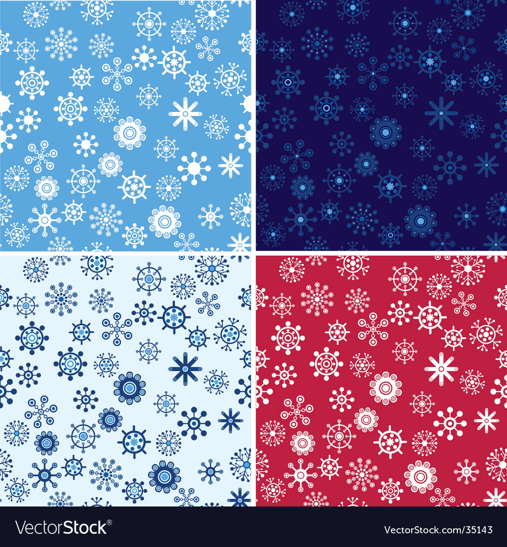 Snow seamless background set vector | Price: 1 Credit (USD $1)