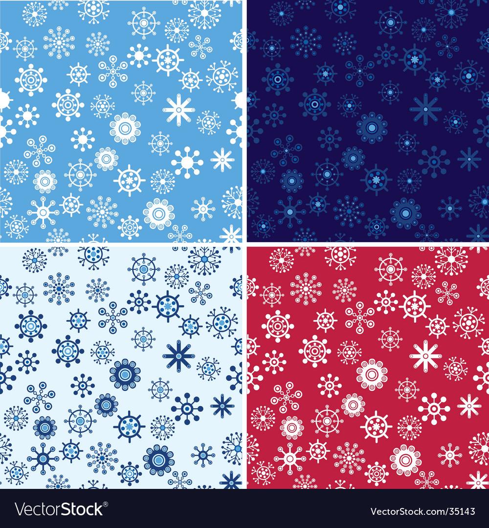 Snow seamless background set vector | Price: 1 Credit (USD $1)