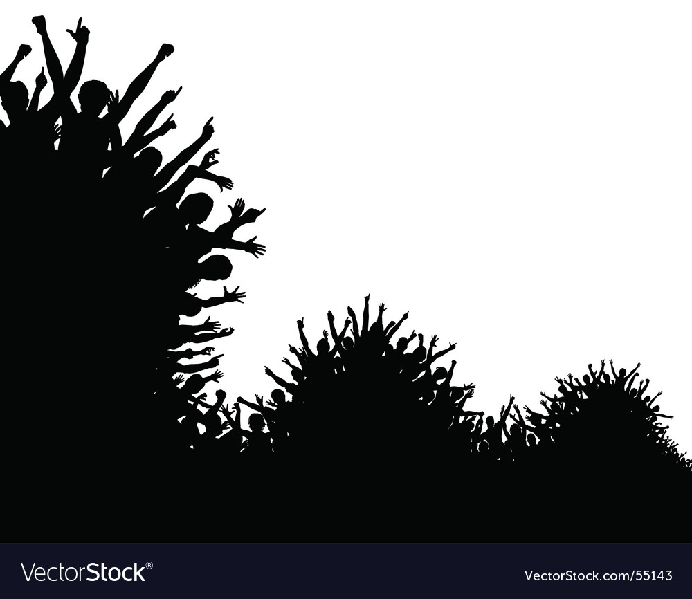 Wave crowd vector | Price: 1 Credit (USD $1)
