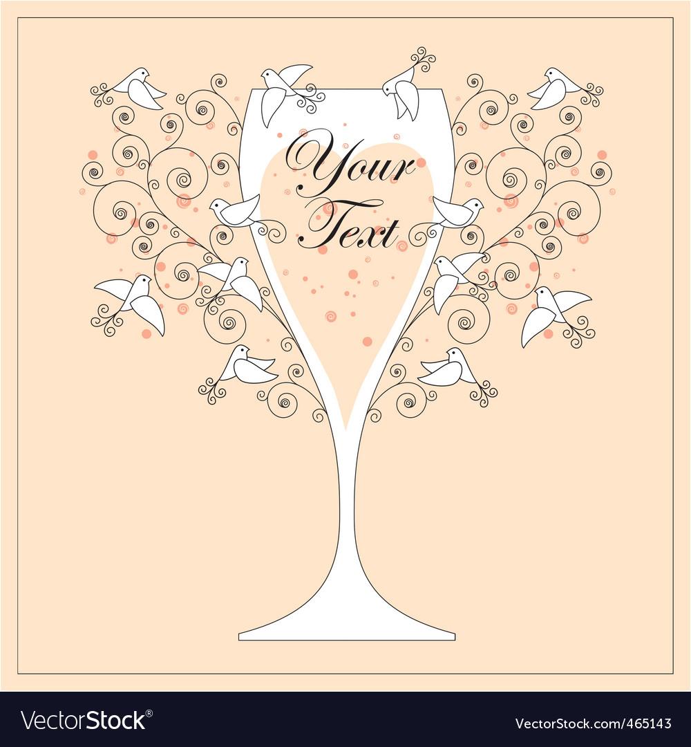 Wedding invitation design vector | Price: 1 Credit (USD $1)