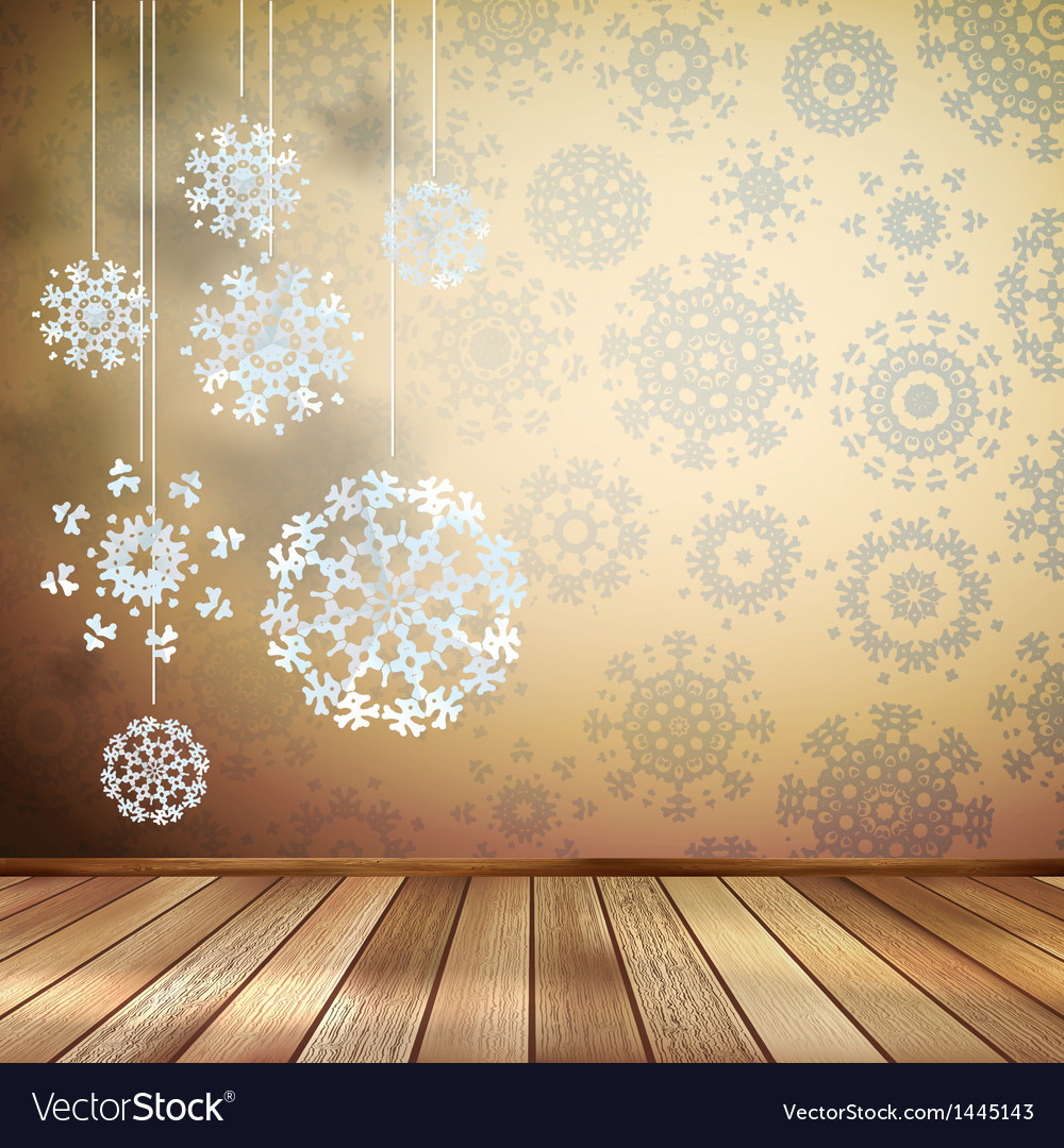 White snowflakes in beige room eps 10 vector | Price: 1 Credit (USD $1)