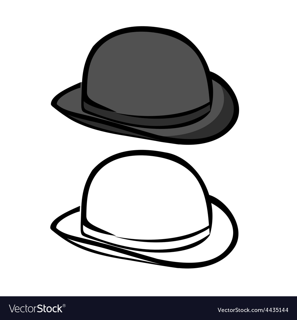 Bowler hat vector | Price: 1 Credit (USD $1)