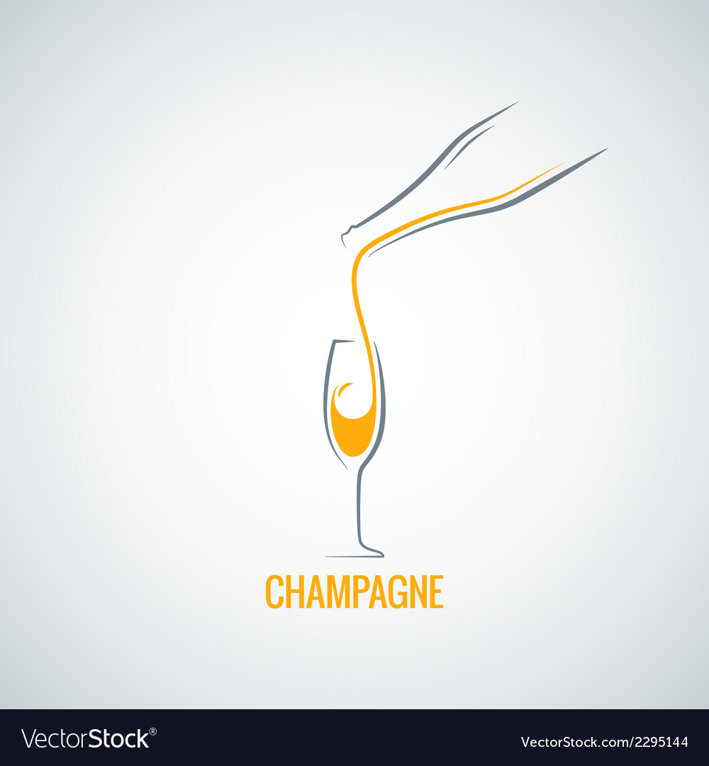Champagne glass bottle background vector | Price: 1 Credit (USD $1)