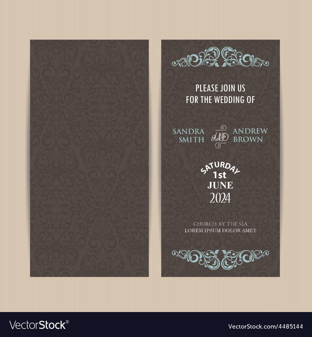 Double invitation card dark vector | Price: 1 Credit (USD $1)