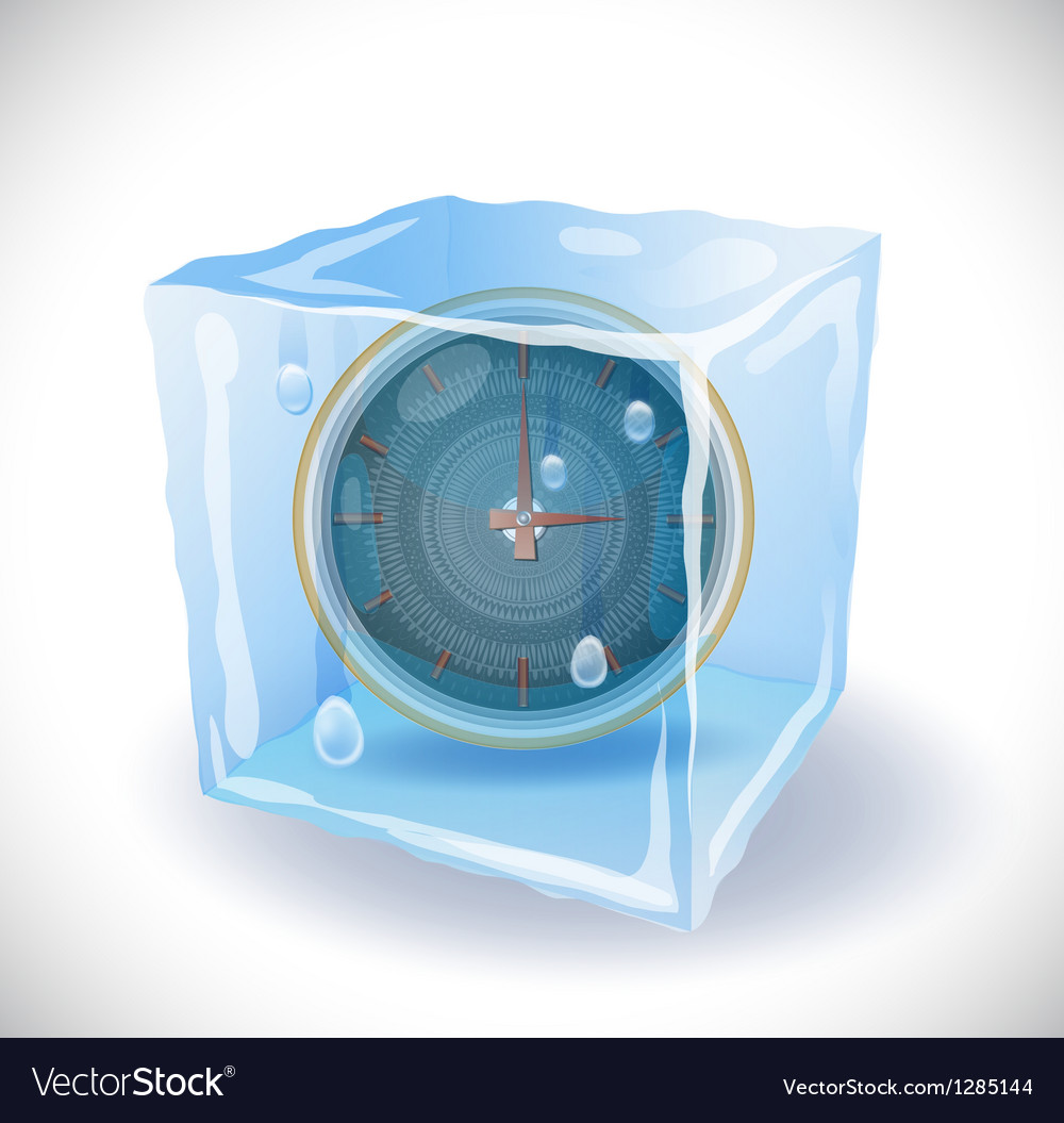 Ice cube with clock vector | Price: 1 Credit (USD $1)