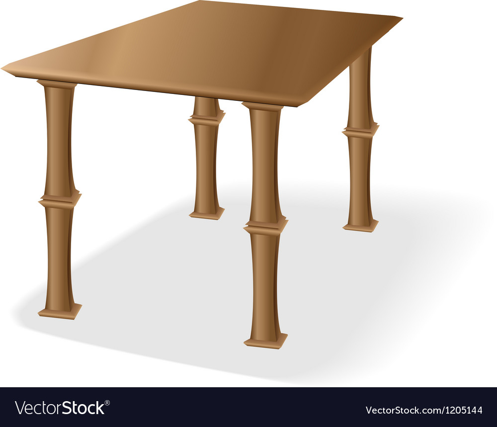 Retro old wooden table vector | Price: 1 Credit (USD $1)