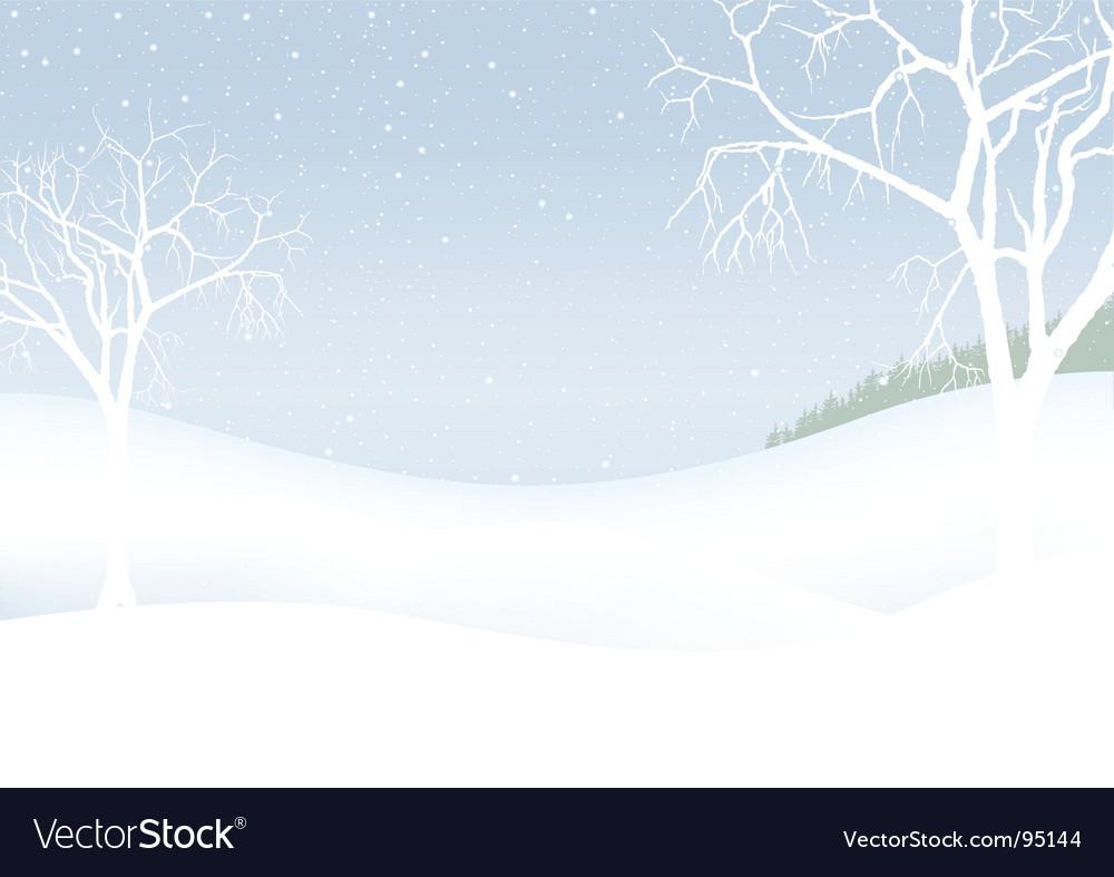 White christmas winter scenery vector | Price: 1 Credit (USD $1)