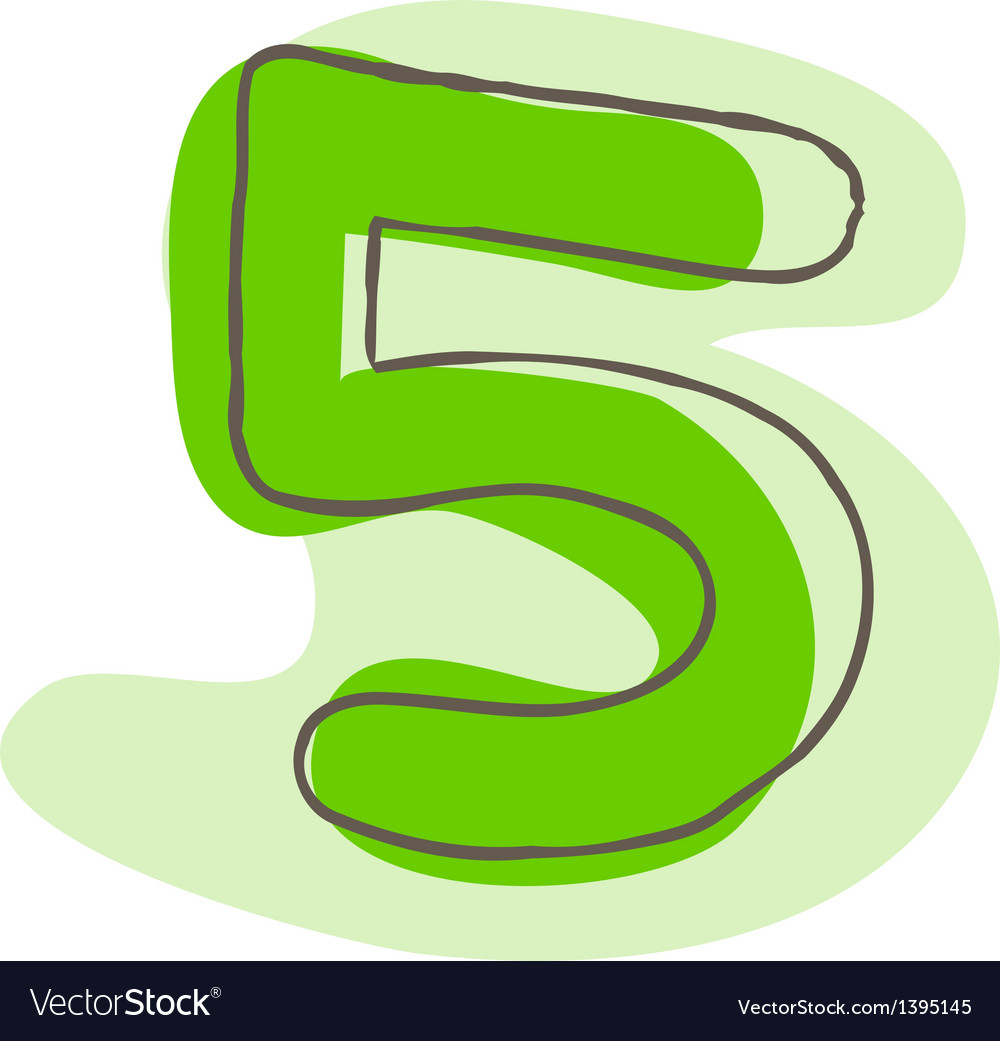 A number of five vector | Price: 1 Credit (USD $1)