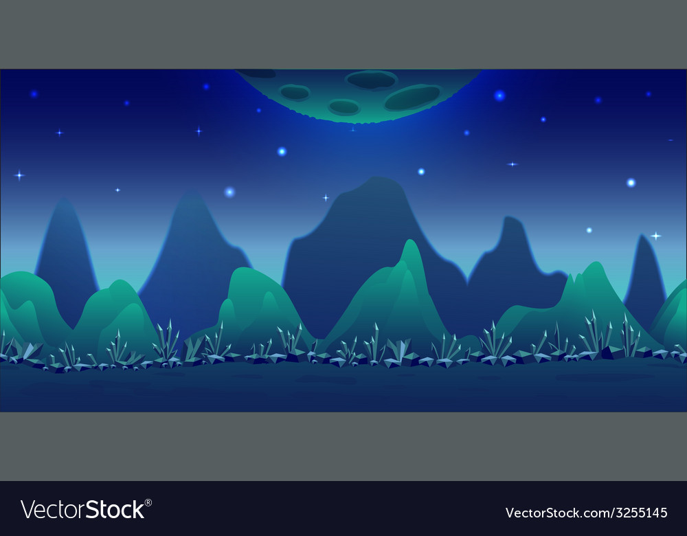 Blue planet game background vector | Price: 1 Credit (USD $1)
