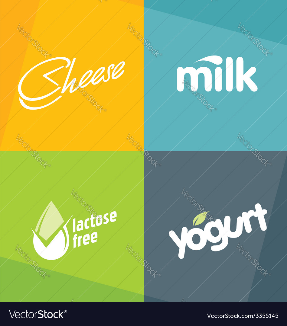 Dairy products logo designs vector | Price: 1 Credit (USD $1)