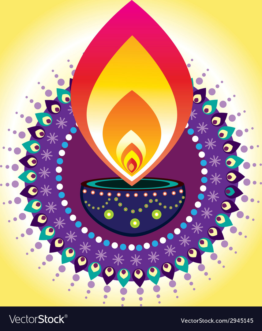 Diwali candle light vector   Price: 1 Credit (USD $1)