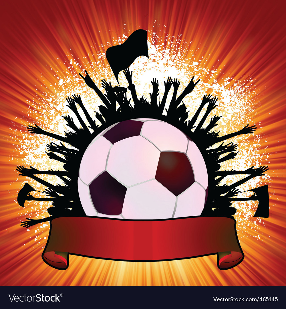 Grunge soccer ball background vector | Price: 1 Credit (USD $1)