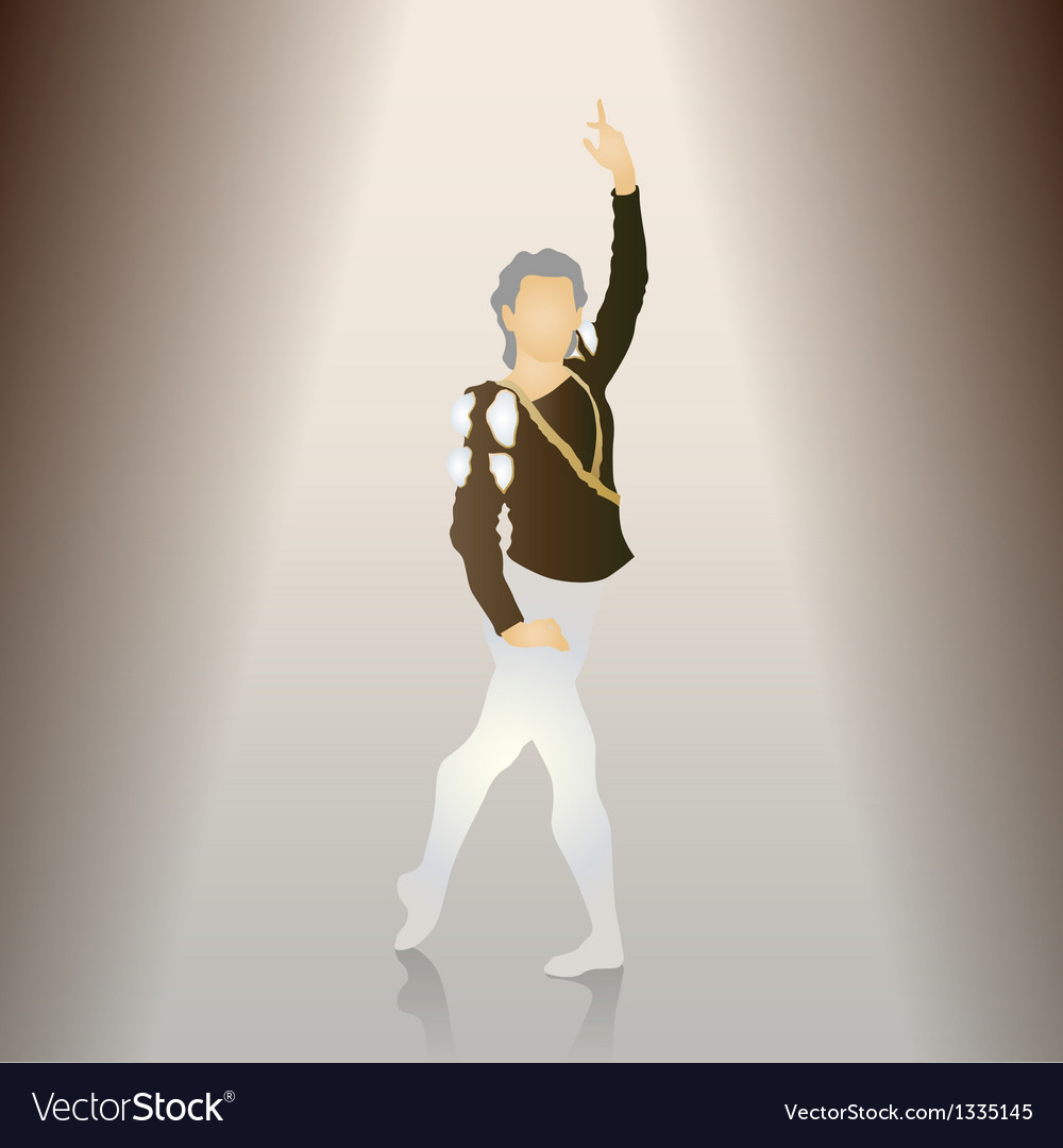 Male ballet poses vector | Price: 1 Credit (USD $1)