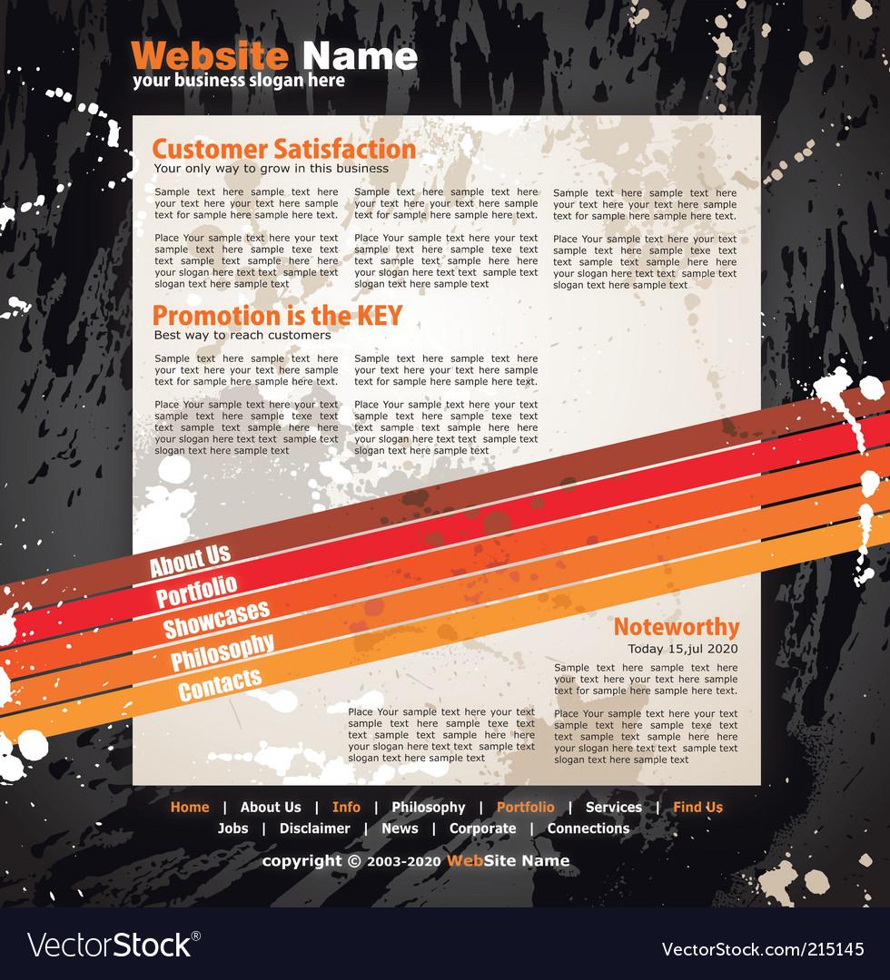 Modern artistic web design template vector | Price: 3 Credit (USD $3)