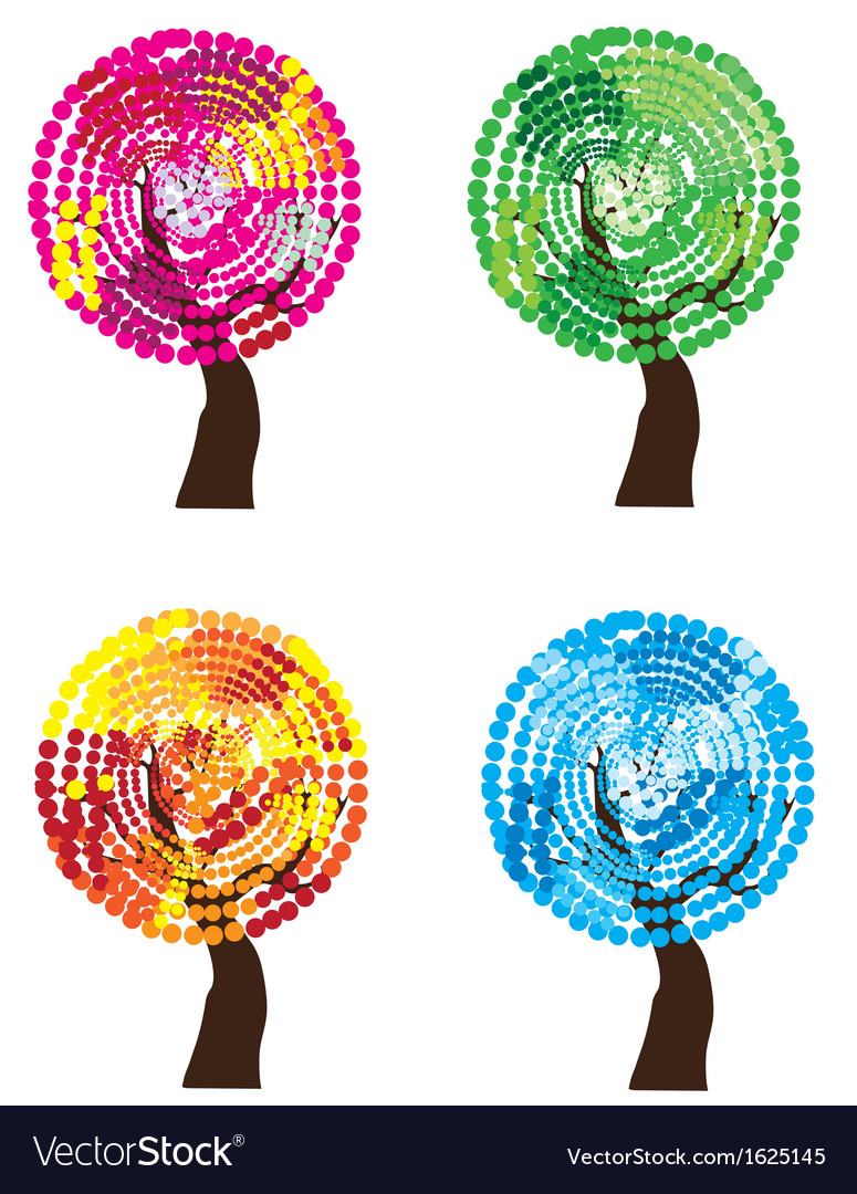 Season trees vector | Price: 1 Credit (USD $1)