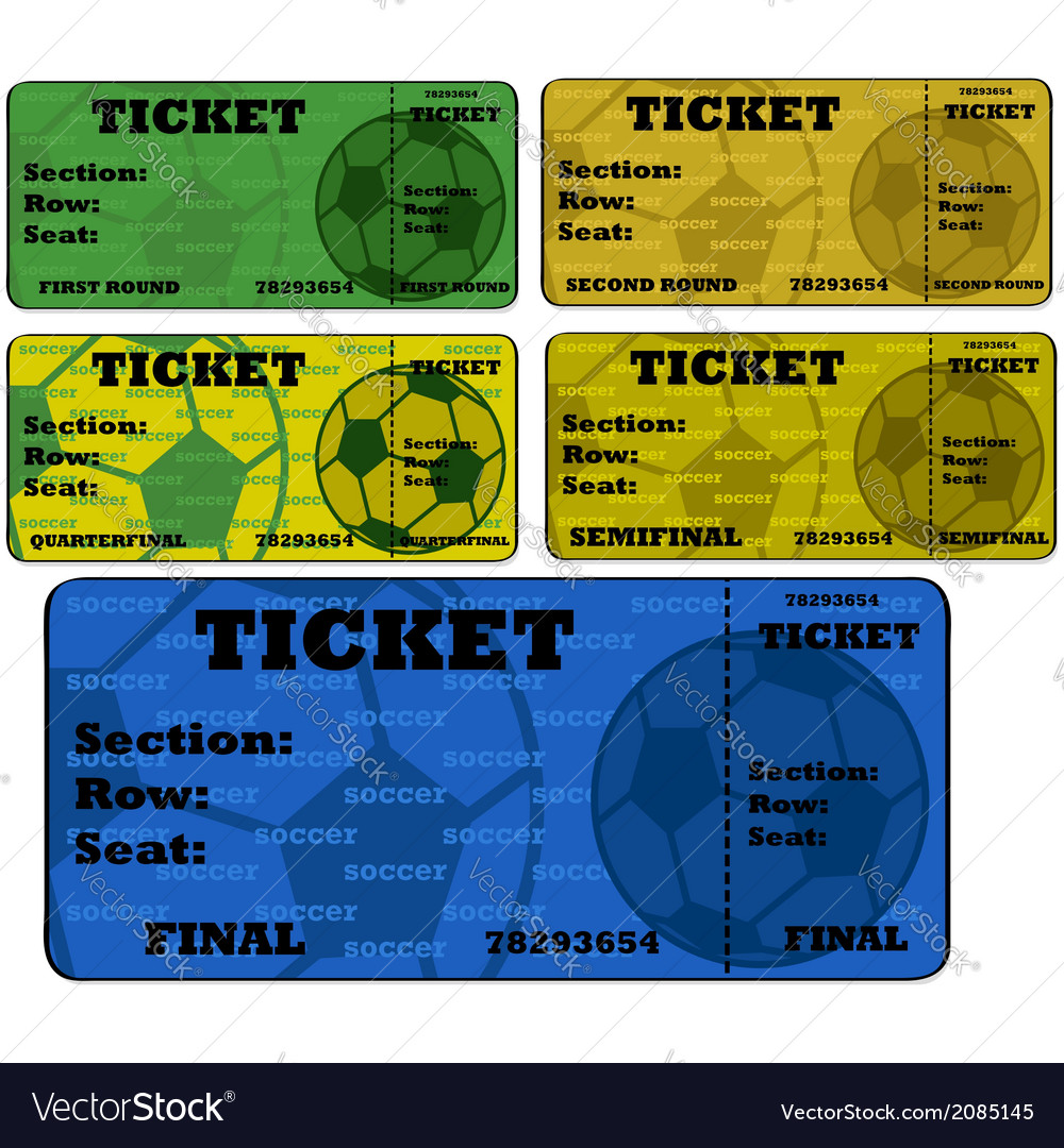 Soccer tickets vector | Price: 1 Credit (USD $1)