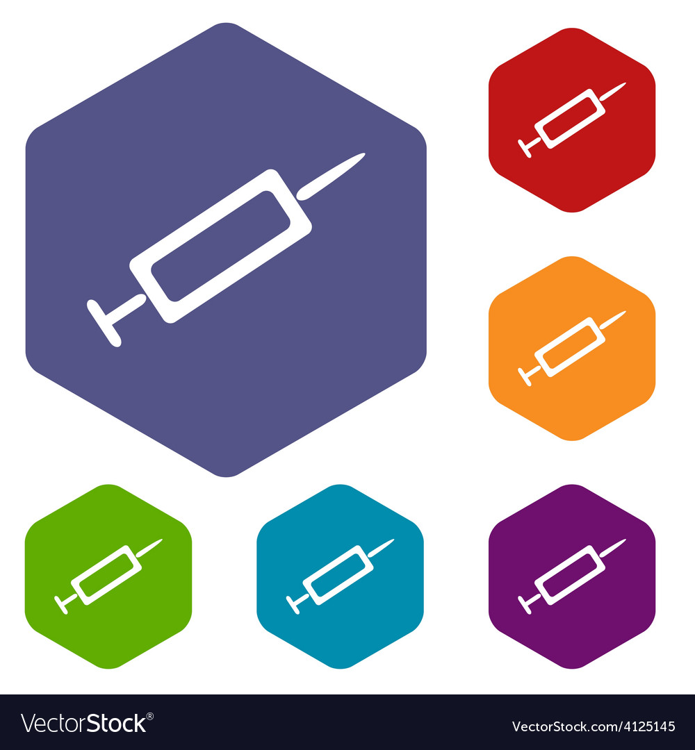 Syringe rhombus icons vector | Price: 1 Credit (USD $1)