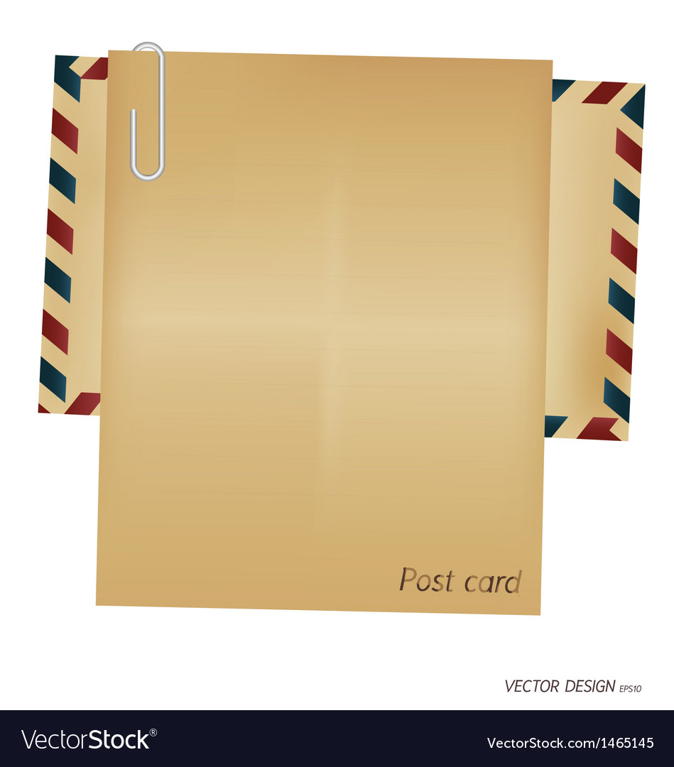 Vintage envelope blank paper vector | Price: 1 Credit (USD $1)