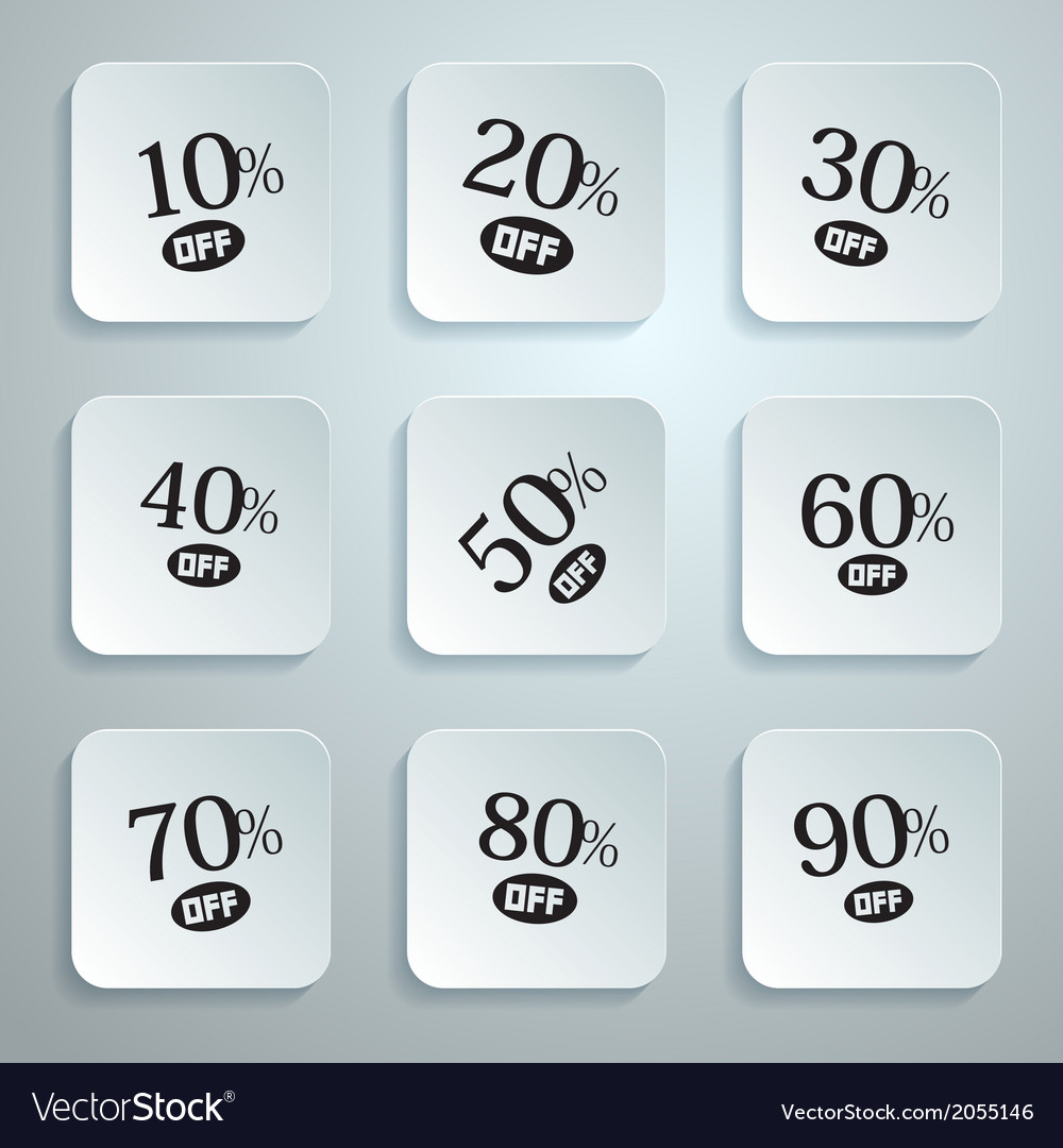 10 off 20 off 30 off 40 off 50 off 60 off 70 vector | Price: 1 Credit (USD $1)