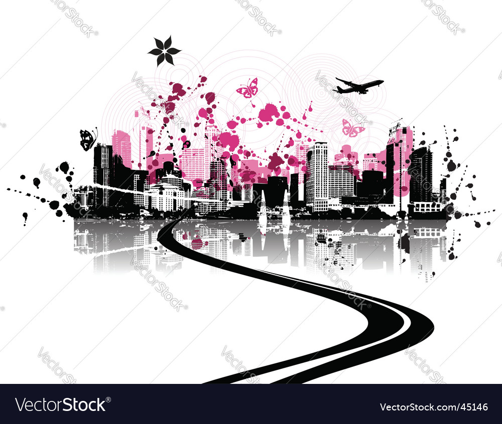 Cityscape background urban art vector | Price: 1 Credit (USD $1)