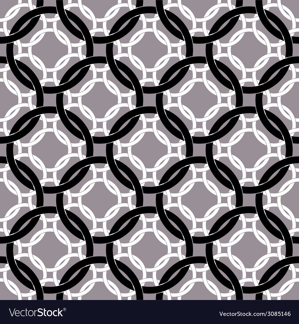 Connected circles seamless pattern retro style vector | Price: 1 Credit (USD $1)