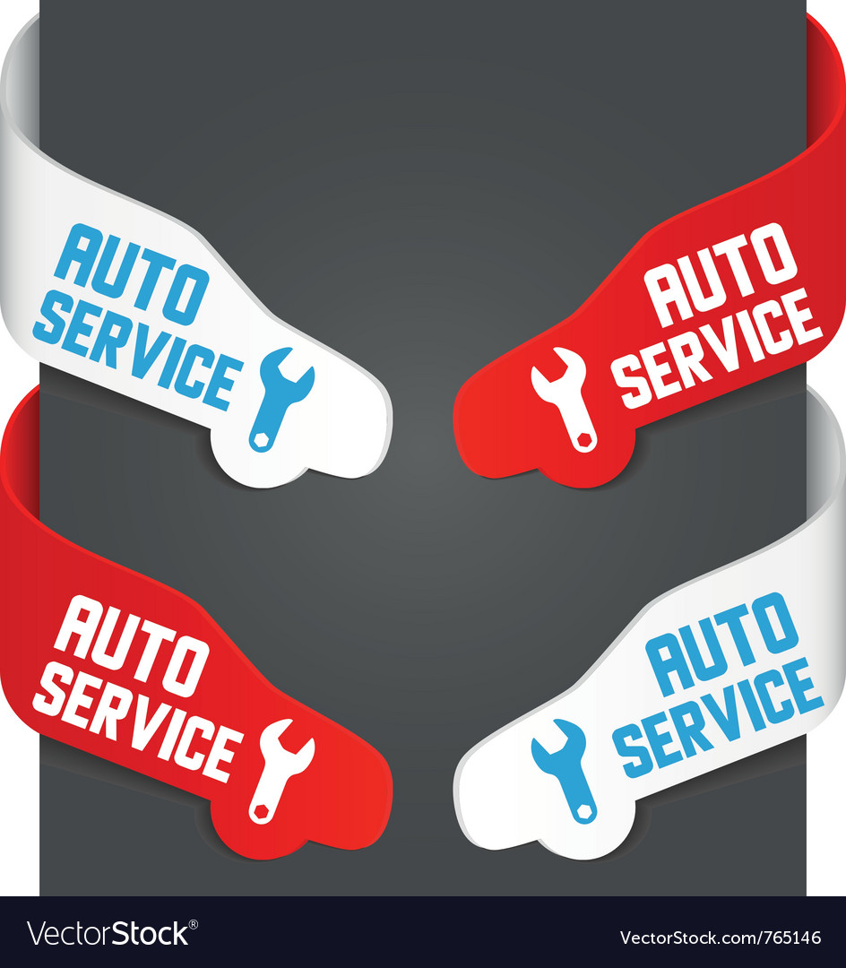 Left and right side signs  auto service vector