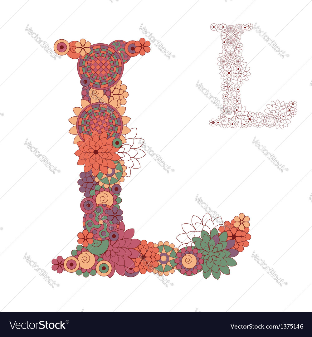 Letter l vector | Price: 1 Credit (USD $1)