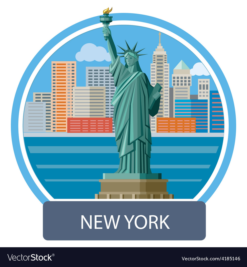 Statue of liberty new york city vector | Price: 1 Credit (USD $1)